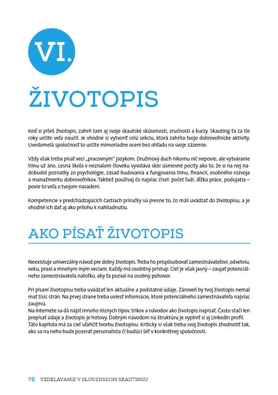 Vzdelavanie V Slovenskom Skautingu Scoutshop Sk