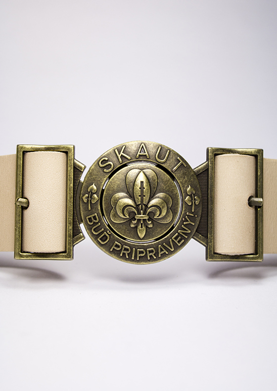 4f048f851 Skautský opasok kožený - ScoutShop.sk